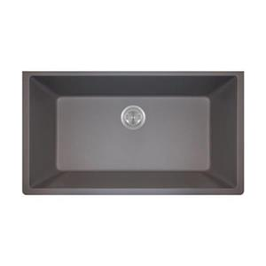 MR Direct TruGranite Single Bowl Kitchen Sink,848-Silver