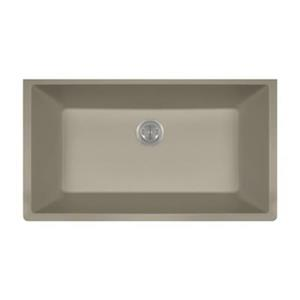 MR Direct TruGranite Single Bowl Kitchen Sink,848-Slate