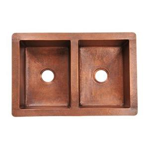 MR Direct Double Equal Bowl Copper Sink,902