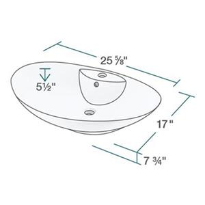 MR Direct White Porcelain Vessel Sink,V2102-W