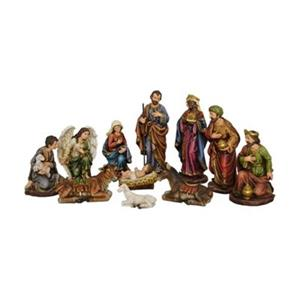 Hi-Line Gift 81890 12-in 11-Piece Nativity Set with Three Wi