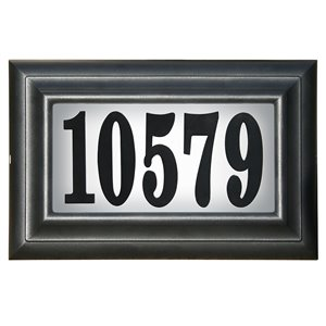 Classic Lighted Address Plaque, Black