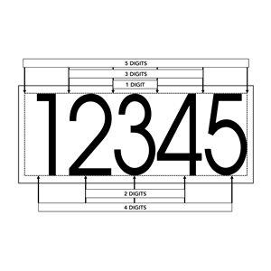 PRO-DF KVNM-4 Modern Self-Adhesive 4-in Black Vinyl Numeral
