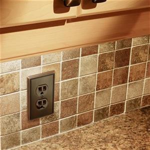 Richelieu Contemporary Duplex Switchplate,BP852195