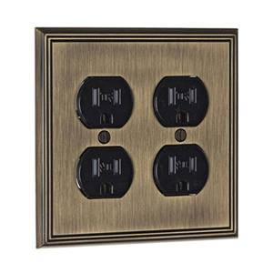 Richelieu Contemporary Duplex Switchplate,BP8522AE
