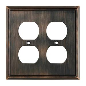 Richelieu Contemporary Duplex Switchplate,BP8522BORB