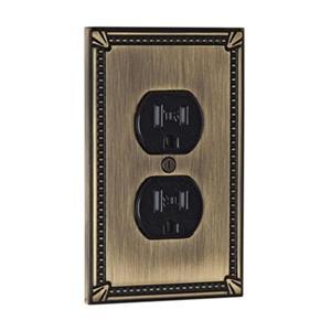 Richelieu Traditional Duplex Switchplate,BP862AE