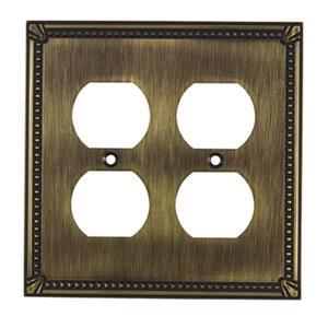 Richelieu Traditional Duplex Switchplate,BP8622AE