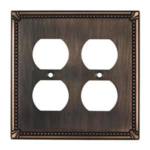 Richelieu Traditional Duplex Switchplate,BP8622BORB