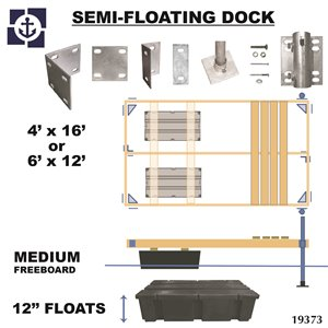 Multinautic 19373 Semi-Floating Medium Freeboard Foam-Filled