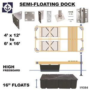 Multinautic 19384 Semi-Floating High Freeboard Hollow Wood D