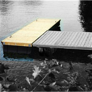 Multinautic 19448 Floating High Freeboard Hollow Wood Dock K