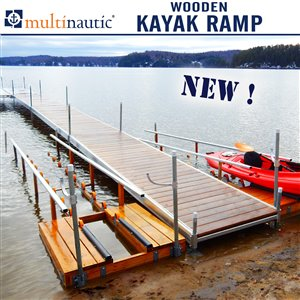 Multinautic 19290 Wood Kayak Ramp Kit,19290