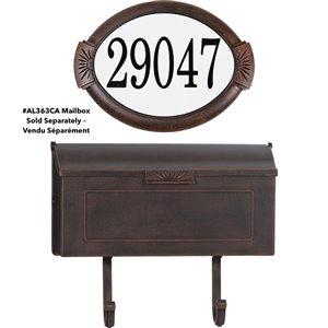 Classic Cast Aluminum Address Plaque, Antique Copper