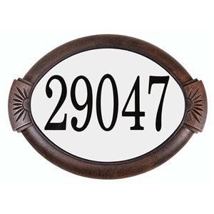 PRO-DF AL29703 Classic Antique Copper Aluminum Address Plaqu
