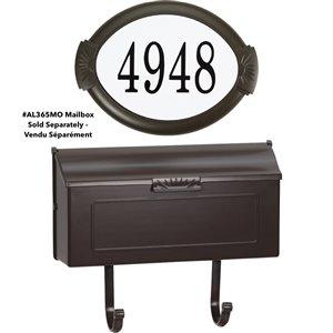 Classic Cast Aluminum Address Plaque, Mocha