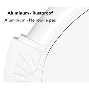 Classic Cast Aluminum Address Plaque, White