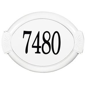 PRO-DF AL29700 Classic White Aluminum Address Plaque,AL29700