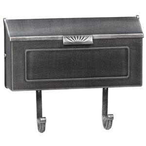 PRO-DF Classic Swedish Silver Aluminum Mailbox,AL366GA