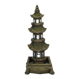 Hi-Line Gift Pagoda Fountain with LED Lights,79558-M