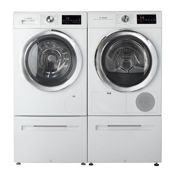 Bosch 800 Series Front Load Washer And Dryer Set Wat28402uc Wtg86402uc White Energy Star Lowe S Canada