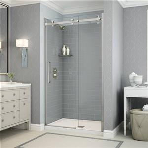 Utile Alcove Shower in Metro Ash Grey with Base and Door