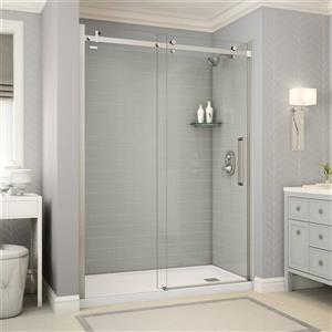 Utile Alcove Shower in Metro Soft Grey with Base and Door