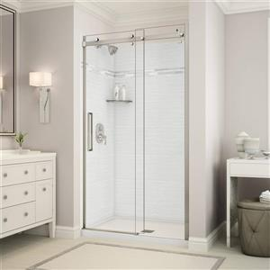 Utile Alcove Shower in Origin Arctik with Base and Door