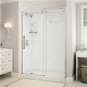 Utile Alcove Shower in Origin Arctik with Base and Door