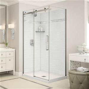 Utile Corner Shower in Origin Arctik with Base and Door