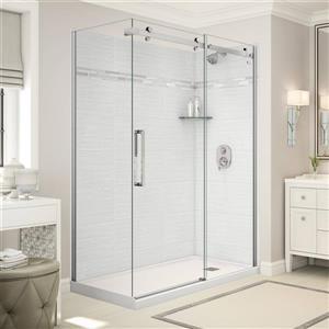 Utile Corner Shower in Origin Arctik with Base and Door