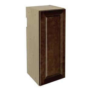 12-in x 30-in Balsamic Barrel Upper Cabinet with Door