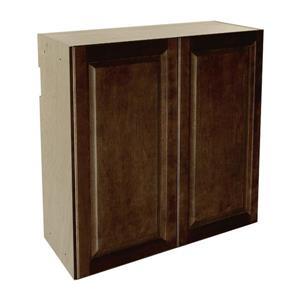 30-in x 30-in Balsamic Barrel Upper Cabinet with Doors