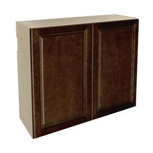 36-in x 30-in Balsamic Barrel Upper Cabinet with Doors