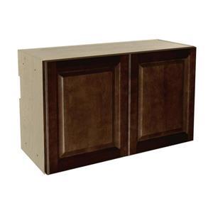 30-in x 18-in Balsamic Barrel Upper Cabinet with Doors