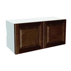 30-in x 14-in Balsamic Barrel Upper Cabinet with Doors