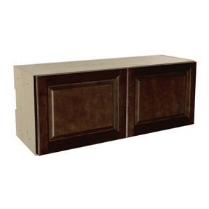 36-in x 14-in Balsamic Barrel Upper Cabinet with Doors
