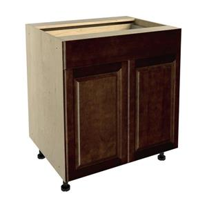 30-in x 30-in Balsamic Barrel Base Cabinet with Doors