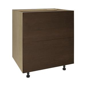 30-in x 30-in Balsamic Barrel 2-Drawer Chest with Drawer Fronts