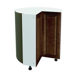 36-in x 30-in Balsamic Barrel Corner Cabinet with Doors