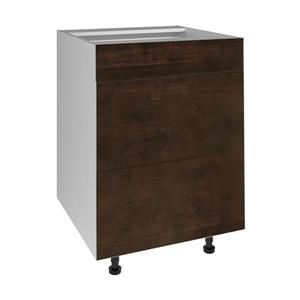 24-in x 30-in Balsamic Barrel 3-Drawer Chest with Drawer Fronts