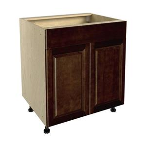 30-in x 30-in Balsamic Barrel Sink Cabinet with Doors