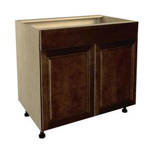 36-in x 30-in Balsamic Barrel Sink Cabinet with Doors