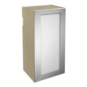 15-in x 30-in Frosted Glass Upper Cabinet with Door