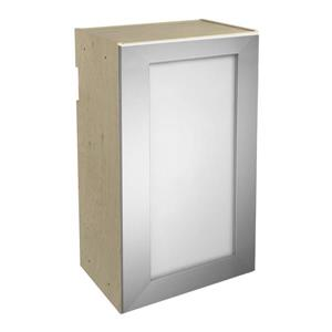 18-in x 30-in Frosted Glass Upper Cabinet with Door