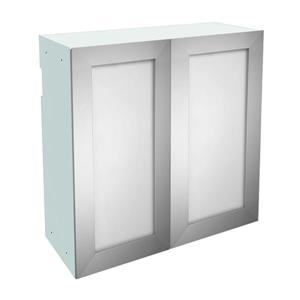 30-in x 30-in Frosted Glass Upper Cabinet with Door