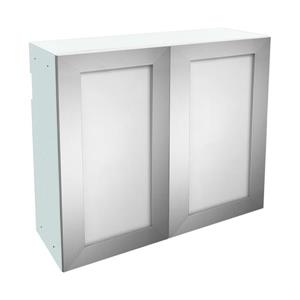 36-in x 30-in Frosted Glass Upper Cabinet with Door