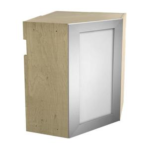24-in x 30-in Frosted Glass Upper Corner Cabinet with Door