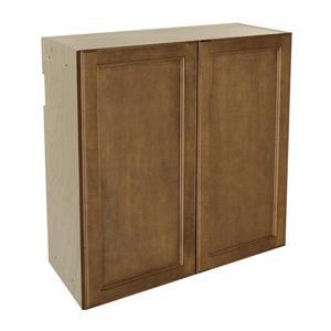 30-in x 30-in Mocha Swirl Upper Cabinet with Door