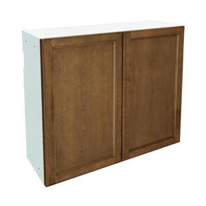 36-in x 30-in Mocha Swirl Upper Cabinet with Doors